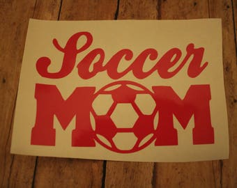 Soccer Mom Decal Sports Mom Soccer Mom Car Decal