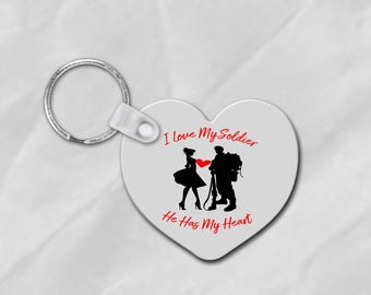 Army Girlfriend gift, Soldier's Girl, Army Keychain, military keychain, Deployment gift, Army Wife Keychain, Love My Soldier, Relationships