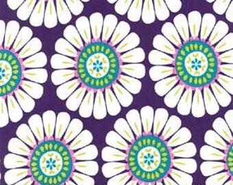 Courtney Flower Premium Cotton Fabric in Purple by Michael Miller