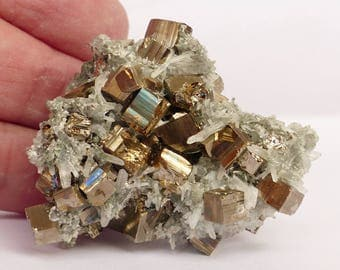 Good combination Quartz with Pyrite, Crystal, Mineral