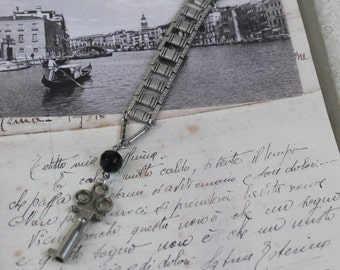 Silver Key Assemblage Necklace