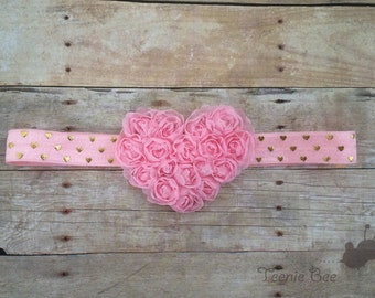Valentine's Day Headbands Baby Girl - Baby Valentine's Day Headband - Valentine's Day Headband - Heart Headband - Baby Valentine