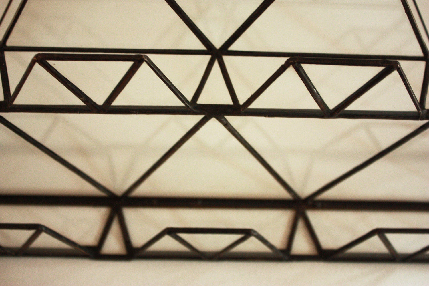 Geometrical stained glass business card holder for multiple cards ...