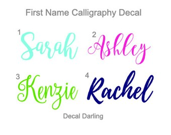 First Name Calligraphy Decal