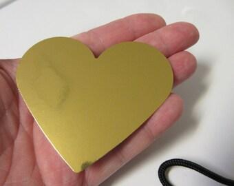"12-2.89"" LARGE Metallic Gold Heart Die Cuts-Valentine Die Cuts-Heart Die Cuts"