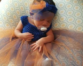 Auburn Tigers Crochet Baby Dress