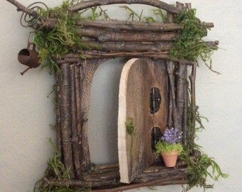 Fairy Door ~ Each One of a Kind ~ Handcrafted by Olive, Fairy Accessories, Fairy Door that Opens, Sealed for Outdoor Optional Display