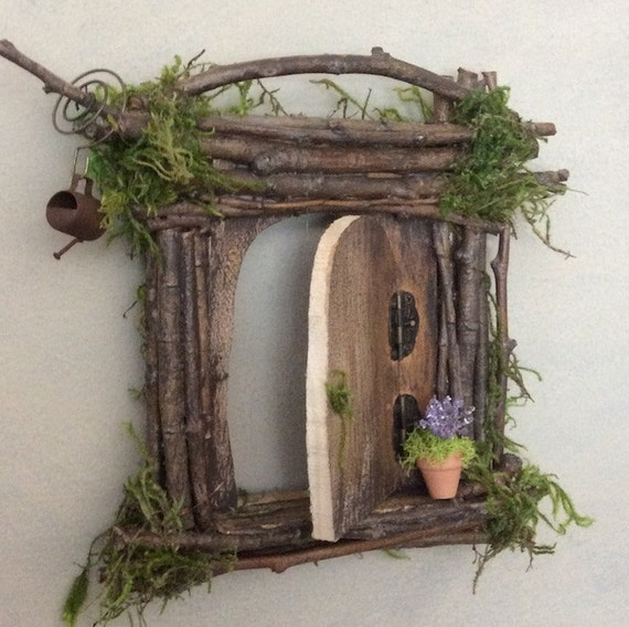 Fairy door each one of a kind handcrafted by olive fairy for Diy fairy house door