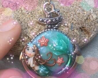 Mermaid polymer clay Sirena in fimo fantasy