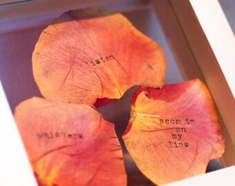 Mothers Day Gift - Flower Petal Poetry - PERSONALIZED Flowers - Gift for Mom, Gift for Grandma, gift for wife, gardener, real flowers