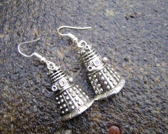 Dalek Earrings. Doctor Who Dalek Earrings. Tibetan Silver Dalek Earrings. Gift For Doctor Who Fans. Charm Earrings.Sci Fi Jewellery.