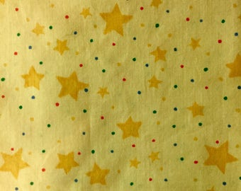 Yellow Star Fabric, Yellow Quilting Fabric, Star Quilting Fabric, Quilting Fabric, Yellow Stars,