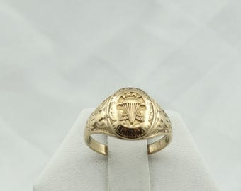 Rare Vintage WWII Army Paratrooper 10K Yellow Gold Ring  #PARATROOPER-SR
