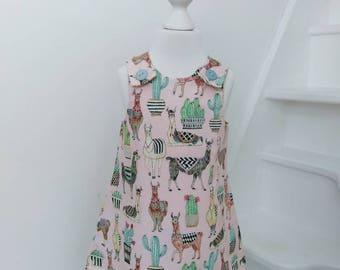 Lovely Llamas Pinafore Dress