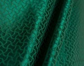Forest green damask woven...