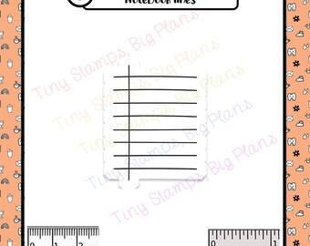Planner stamp - notebook lines pattern ECLP stamp