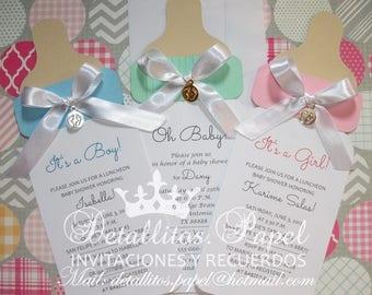 Baby shower Invitation, Bottle invitation, Baby Shower invitation, girl, Baby Shower invitation boy, 50 invitations Baby Shower