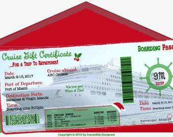 Cruise - Customized Gift Certificate  - Digital File