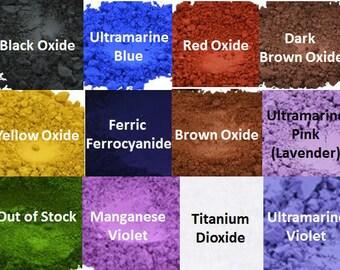 1/2 oz cosmetic matte soap colorants/Natural oxides/candle dyes/nail polish colorants