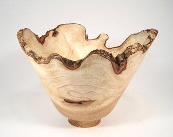 Large Ash Burl Natural Edge Bowl