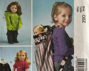 "McCalls M6854 - Doll Clothing and Child's Backpack - 18"" Doll"