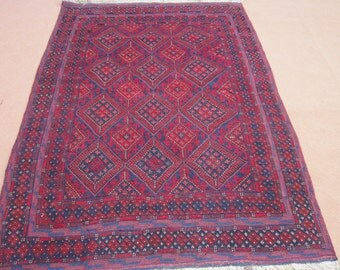 Size:6.7 ft by 5 ft Handmade Carpet/Kilim Afghan Tribal Mishwani Kilim/Rug