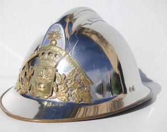 French Firemans helmet, vintage French Pompiers hat, 1920's,Antique French helmet