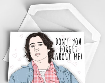 Goodbye Card, The Breakfast Club Greeting Card, Judd Nelson The Criminal, Don't You Forget About Me, Miss Card, Leaving Card, Funny Goodbye