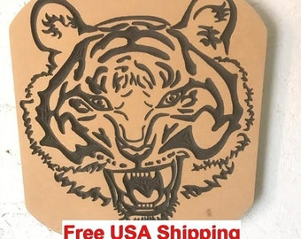 Engraved Tiger Head Wall Decor Gift  ON SALE