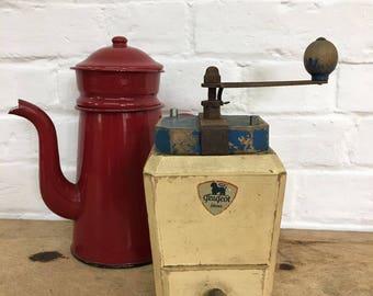 Industrial Vintage Antique Original French Peugeot Coffee Grinder