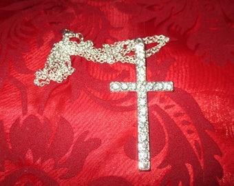 Beautiful cross all in rhinestones!