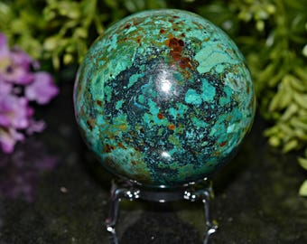 Chrysocolla Sphere, Chrysocolla Sphere 63 MM, Natural Chrysocolla Sphere, Chrysocolla Spheres