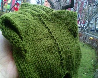 Dog sweater, Olive Chrismas pullover, Warm Jumper, Orange Snowflake, New Year Flake, Winter jumper xs, xxs, cat clothes, green