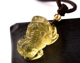 Enchanting Yellow Crystal Brave Pendant for  Men and Women-WEN550878409464-GVN
