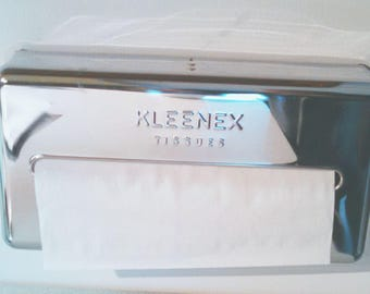 Chrome Kleenex tissue box holder - minimalist, mid-century and useful.