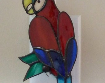 Stained Glass Parrot night light