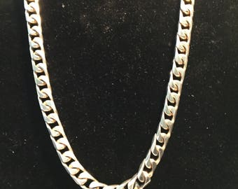 HEAVY STERLING SILVER Link Chain Necklace Italy