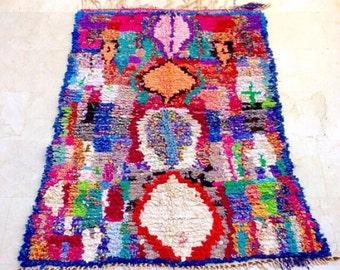 Diamond life Boucherouite rug , rag