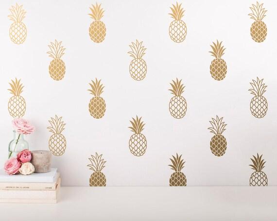 pineapple wall decals pineapple decals pineapple decor. Black Bedroom Furniture Sets. Home Design Ideas