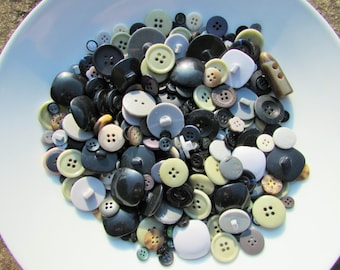 Greys and Blacks Buttons