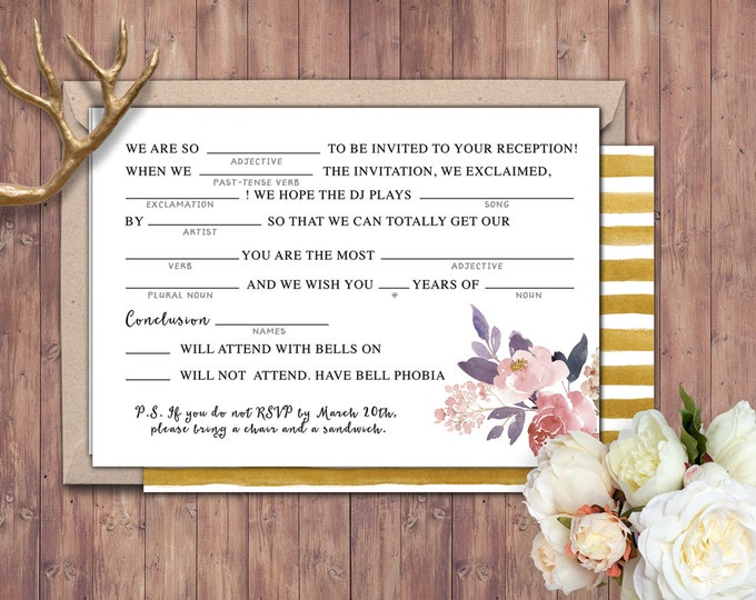 Happily ever after RSVP card, BOHO wedding shower, couples shower, arrows, Tribal, wedding, bridal shower