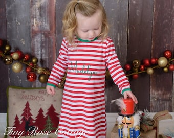 Christmas Gown embroidered - personalized with Name