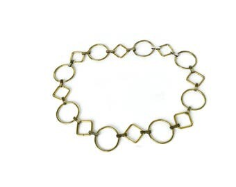 Flash Sale 30% off Vintage circle hoop chain belt