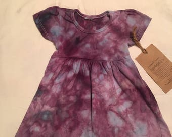 6-12 mth   ice dye dress in purple rain infant dress 6-12 mth