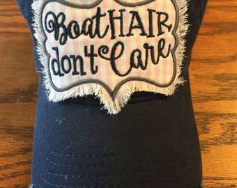 Boat Hair Don't Care-Lake, Boat, Camping, Skiing, Water, Summer, Ocean