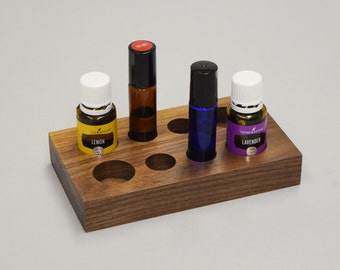 Essential Oil Display  ~ FREE SHIPPING ~ Oil Organizer ~ 5ml 10ml 15ml ~ Essential Oil Tray ~ Handmade, Solid Wood ~ Young Living ~ DoTerra