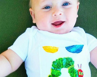 Hungry Caterpillar Inspired Onsie