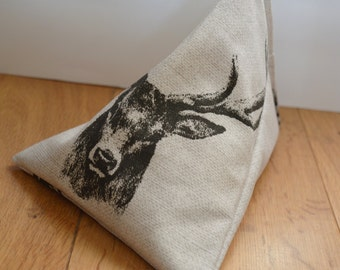 iPad Beanie / Book Stand / e Reader Pillow / Tablet Cushion - Stag