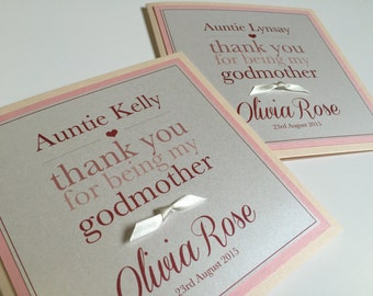 Personalised Godparents Card | Thank You for being my Godmother/Godfather