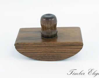 Handmade Rocker Blotter - Black Walnut- BL006
